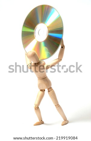 Dummy and cd-rom - stock photo