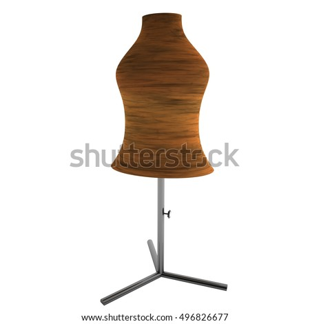 Dummy for clothing, isolated over white, 3d rendering