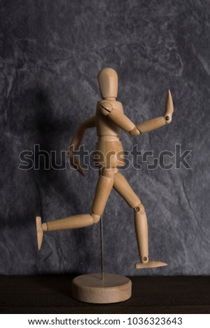 dummy for drawing wooden pattern for poses