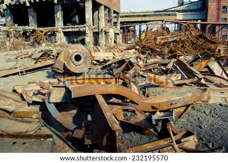 Dump at plant - stock photo