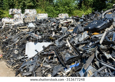 Dump of car wrecks - abstract background