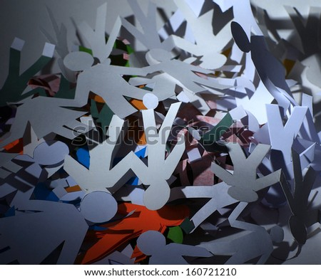 dump the paper people - stock photo