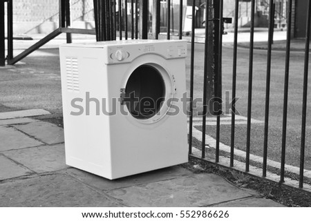 dumped washing machine