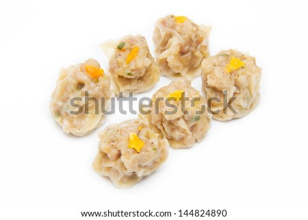 Dumpling on white background - stock photo
