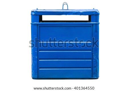 dumpster isolated on white background