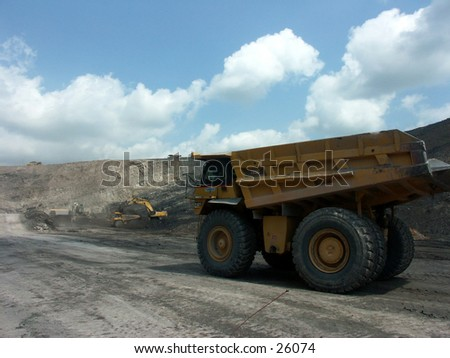 Dumptruck at coal mining site
