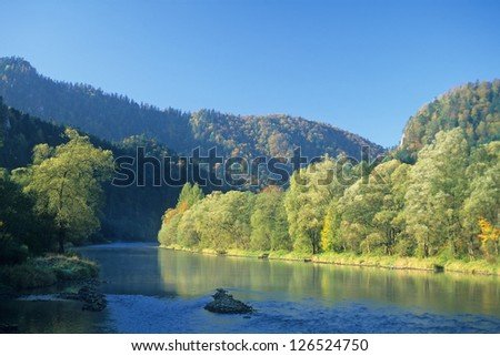 Dunajec valley, Pieniny Mountains, Western Carpathians, Poland