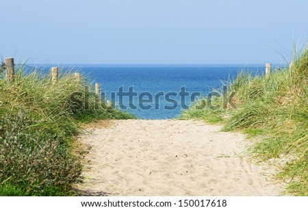 Dune at the Ocean - stock photo