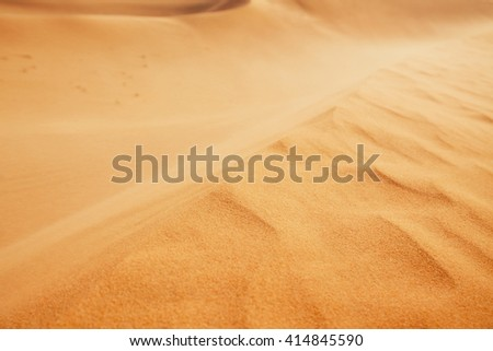 Dune of the sand - close up view - stock photo