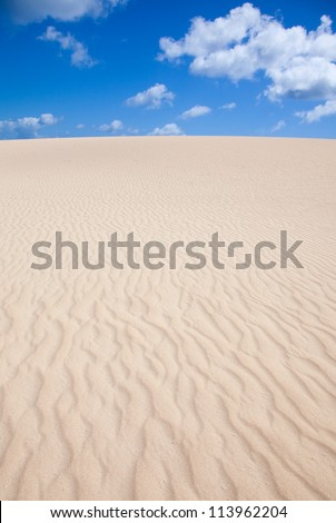 dunes abstract - bright sunshine showing wind patterns on sand - stock photo