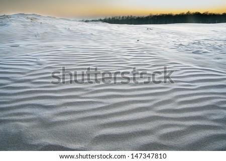 dunes at sunrise - stock photo