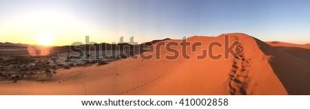 Dunes, Namibia, Africa - stock photo