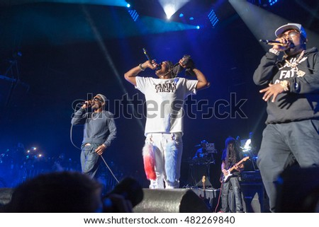 Dungeon Family reunites at the at the 2016 One Music Fest Concert 9/10/16 Atlanta Georgia at the Lakewood amphitheater
