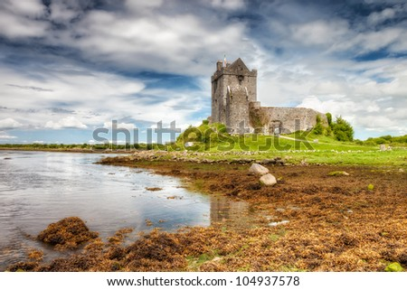 Dunguaire Castle in  County Galway, Ireland. - stock photo