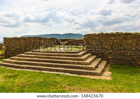 Dungur, ruins of a substantial mansion located in the western part of Aksum, Ethiopia - stock photo