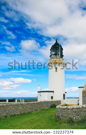 Dunnet Head is a peninsula in the Caithness region, the most northern point of UK mainland is called Easter Head, and there lies this building.