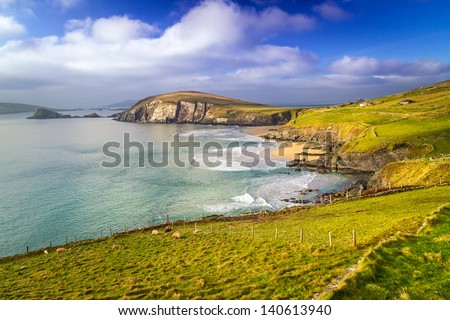 Dunquin bay in Co. Kerry, Ireland - stock photo