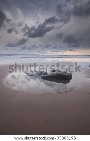 Dunraven Bay on the Glamorgan Heritage Coastline in Wales. - stock photo