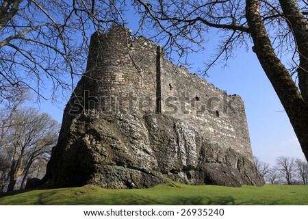 Dunstaffnage Castle near Oban Argyll, Scotland - stock photo