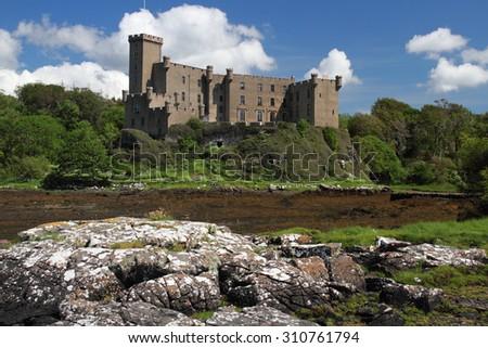 dunvegan castle isle of Skye Scotland UK - stock photo