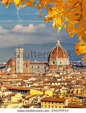 Duomo cathedral in Florence, Italy - stock photo