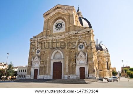 Duomo Cathedral of Cerignola. Puglia. Italy. - stock photo