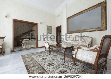duplex apartment - stock photo