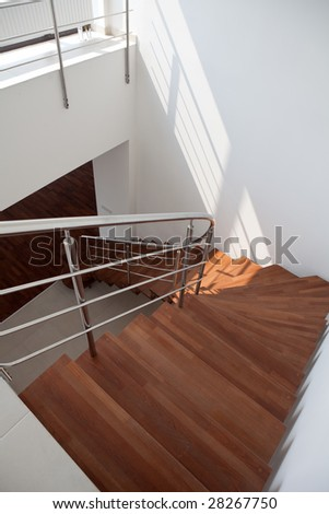 Duplex Apartment Stairs - stock photo