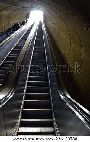 Dupont Circle Metro Station in Washington DC, USA - stock photo