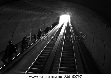 Dupont Circle Metro Station in Washington DC, USA