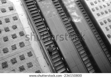 Dupont Circle Metro Station in Washington DC, USA - stock photo