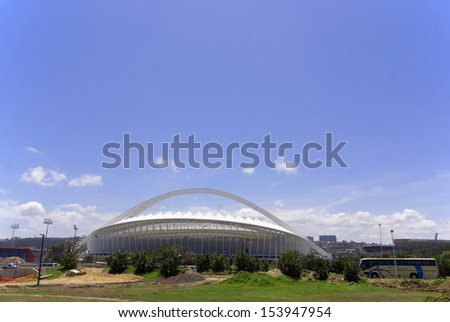 DURBAN - NOVEMBER 29: the Moses Mabhida stadium of Durban on November 29, 2009 in Durban, South Africa. It was one of the host stadiums for the 2010 FIFA World Cup.