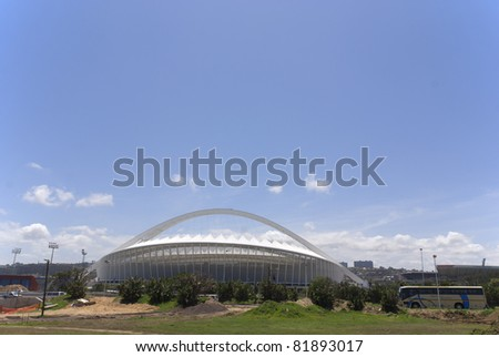 DURBAN - NOVEMBER 26: the Moses Mabhida stadium of Durban on November 26, 2009 in Durban, South Africa. It was one of the host stadiums for the 2010 FIFA World Cup.