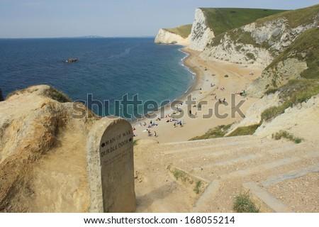 Durdle Door beach - stock photo
