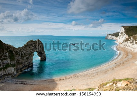 Durdle Door ,Dorset Jurassic Cost ,England - stock photo