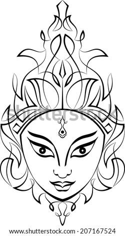 Durga Stock Vector 84766552 Shutterstock