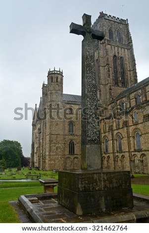 DURHAM - AUGUST 10 : Cathedral at 14 June 2015 in Durham, England. Durham Cathedral is seat of the Anglican Bishop of Durham and a UNESCO World Heritage site.
