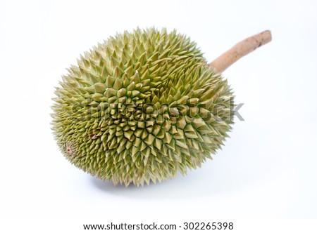 Durian isolated on white background. - stock photo