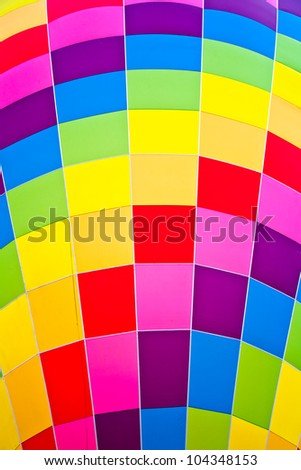 During a sunny day it's easy to observe these vivid colors on a fire balloon