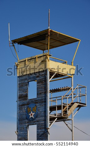 During World War II this control tower was used by the Army Air Force to direct operations on the training airfield.