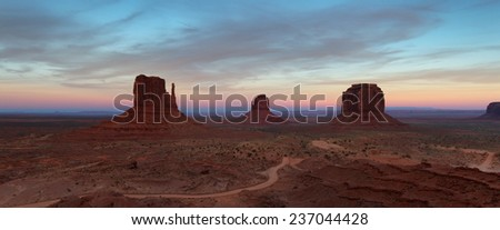 Dusk in Monument Valley