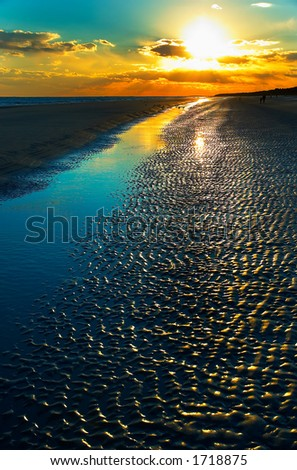 Dusk on Hilton Head beach. More with keyword Group12B. - stock photo