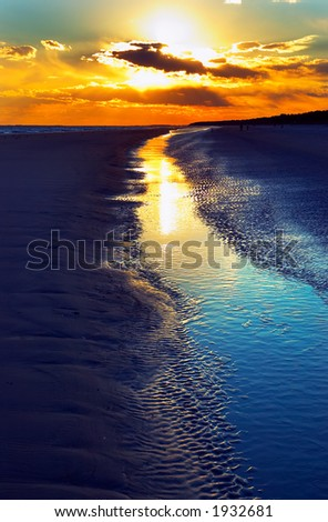 Dusk on Hilton Head beach. More with keyword group12b