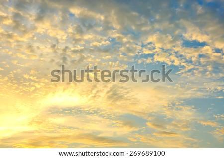 Dusk sky, Beautiful cloudscape, Heaven sky - stock photo