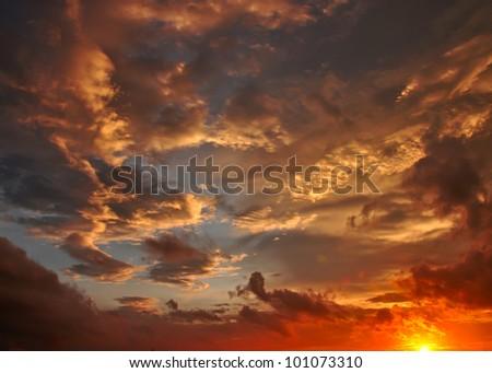 Dusk sky, Cloudscape - stock photo