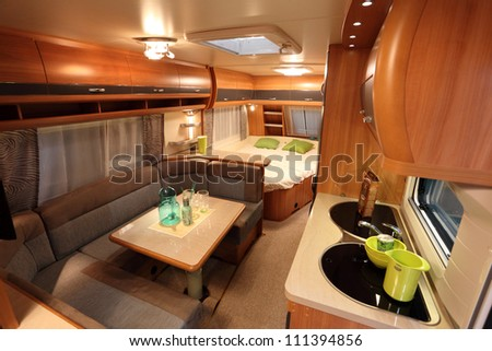 DUSSELDORF AUGUST 27 Interior Modern Camper Stock Photo Image
