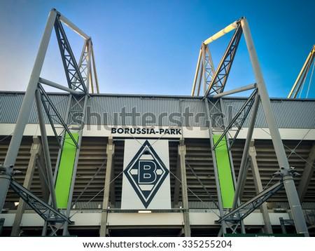 DUSSELDORF, GERMANY - NOVEMBER, 2015: Football staidum Borussia Park in Monchengladbach - stock photo