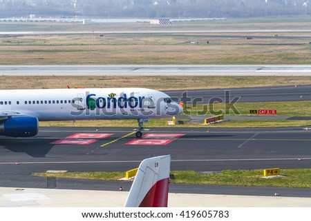 DUSSELDORF, NRW, GERMANY - MARCH 18, 2015: 