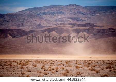 Dust Devil In Death Valley - stock photo