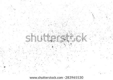 Dust particles on the white background, can use as overlay texture - stock photo